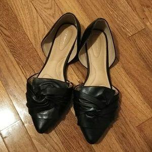Lane Bryant Flats. Size 11W. Black.